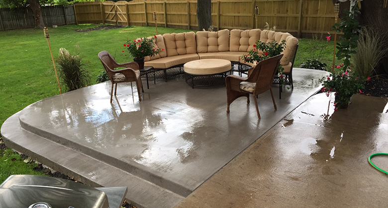 Concrete Patio Or Deck From Grasshopper Concrete Services Near Syracuse Ny
