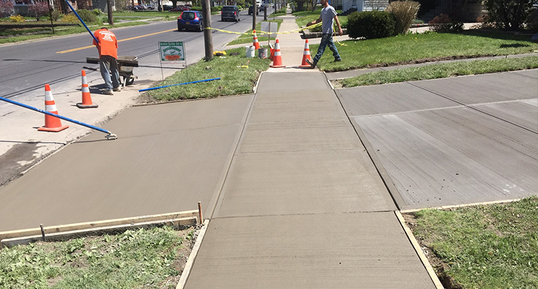 concrete sidewalk repair near syracuse ny from grasshopper concrete services