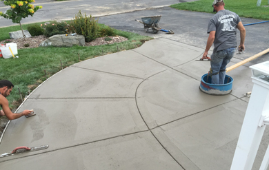 concrete driveways and walkways in syracuse ny
