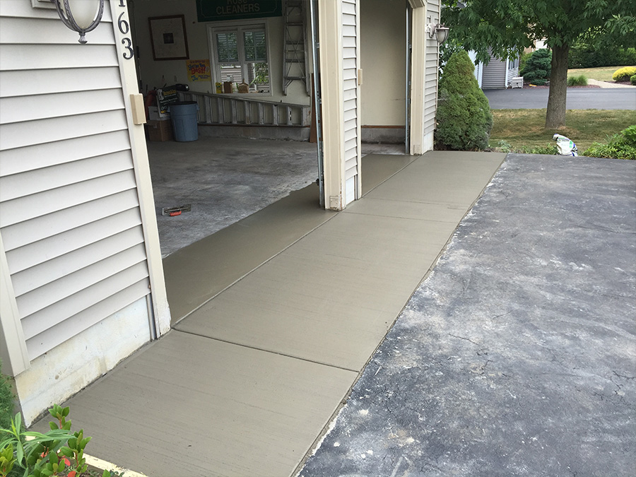 concrete driveway grooved syracuse
