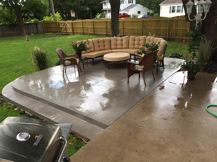 Stamped Concrete Patio Deck