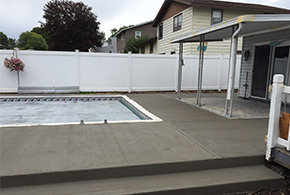 grooved deck patio concrete pool area syracuse
