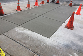 commercial concrete sidewalk stamped syracuse new york grasshopper services