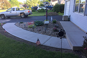 residential concrete walkway sidewalk syracuse ny grasshopper services